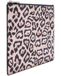 Givenchy | Medium Jaguar Coated Canvas Pouch | Lyst