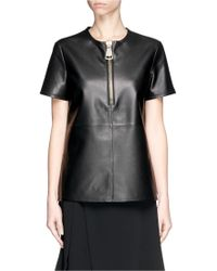 Givenchy Industrial Zip Leather Top - Lyst