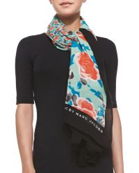 Marc By Marc Jacobs Spliced Jerrie Rose Scarf - Lyst