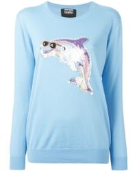 Markus Lupfer Sequin Dolphin Sweater - Lyst