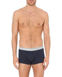 Vivienne Westwood Logo Waistband Trunks Pack Of Two - Lyst