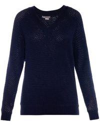 Vince Basketweave Wool-blend Sweater - Lyst