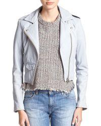 IRO Ashville Leather Moto Jacket - Lyst