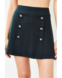 Cope - Pleated Button-panel Skirt - Lyst