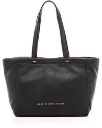 Marc By Marc Jacobs Whats The T Mini Tote - Black - Lyst