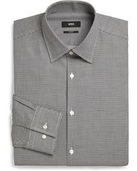 Boss by Hugo Boss Slim-Fit Checked Dress Shirt - Lyst