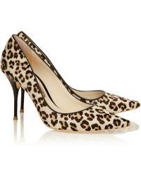 Sophia Webster Lola Leopard-print Calf Hair Pumps - Lyst