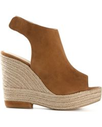 Paloma Barceló Buckle Wedge Mules - Lyst