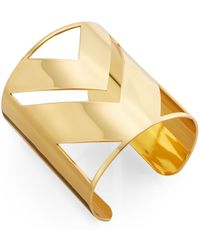CC Skye Chevron Cutout Cuff Bracelet - Lyst