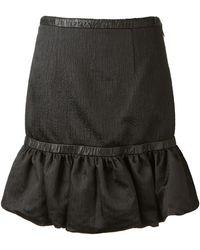 Christopher Kane Black Satin Effect Skirt - Lyst