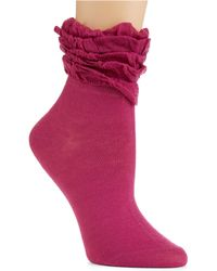 Kensie - Anklet Socks with Ruffled Cuffs - Lyst