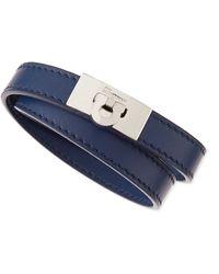 Ferragamo - Mens Gancini Leather Wrap Bracelet - Lyst