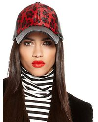 DKNY Jeans Leather Baseball Hat - Lyst