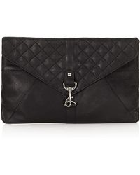 Topshop Quilted Clip Fasten Clutch Bags - Lyst