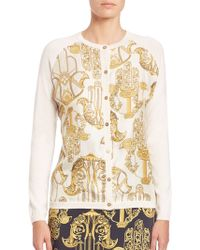 Versace | Printed Button-front Cardigan | Lyst