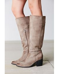Jeffrey Campbell Torrent Distressed Suede Tall Boot - Lyst