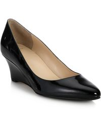 Cole Haan Catalina Patent Leather Wedge Pumps - Lyst