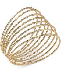 Style & Co. - Gold-tone Pavé Accent Bangle Bracelet - Lyst