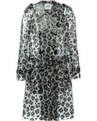Moschino Cheap & Chic Animal Pattern Trench Coat - Lyst