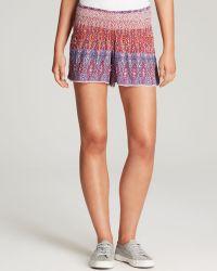 Aqua - Shorts - Candy Smocked Waist - Lyst