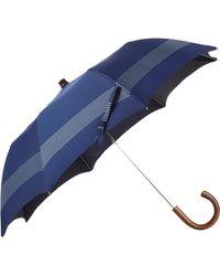 Barneys New York Striped Folding Umbrella