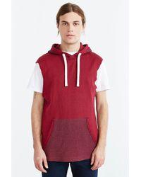 BDG - Sleeveless Raw Edge Hooded Sweatshirt - Lyst
