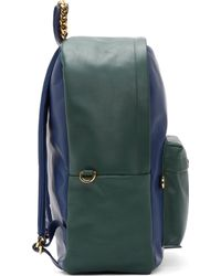 Sophie Hulme - Green and Blue Leather Backpack - Lyst