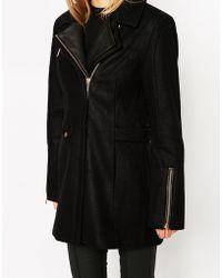 ELEVEN PARIS | Woven Coat With Zip Detail | Lyst