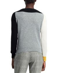 Stella McCartney Cashmere Colorblock Sweater Blackwhite - Lyst