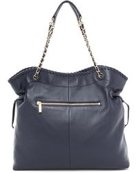 Tory Burch Marion Slouchy Tote Tory Navy - Lyst