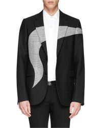 Alexander McQueen Houndstooth Graphic Jacquard Wool Blazer - Lyst
