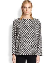 Proenza Schouler Tweed-Print Crepe Top - Lyst