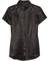 Burberry Prorsum Silk Shirt - Lyst