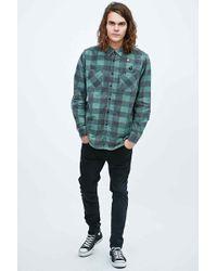 RVCA - Fletcher Flannel Shirt In Duck Green - Lyst