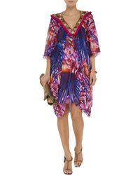 Matthew Williamson Embellished Printed Silk Dress - Lyst