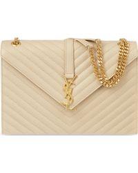 Saint Laurent Quilted Leather Satchel Bag - For Women - Lyst
