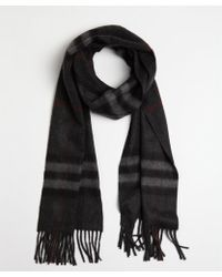 Burberry Charcoal and Black Cashmere Nova Check Printed Scarf - Lyst
