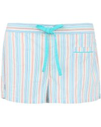 Princesse Tam-Tam - Green Stripe Charlotte Pyjama Shorts - Lyst