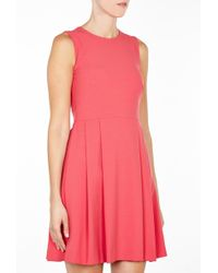 RED Valentino Pink Pleated Skirt Sleeveless Dress - Lyst