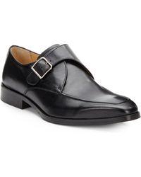 Saks Fifth Avenue Black Label - Leather Monkstrap Dress Shoes - Lyst