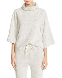 NYTT - Cowl Neck French Terry Top - Lyst