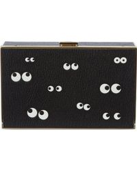 Anya Hindmarch Imperial Nocturnal Grained-Leatherbox Clutch Bag - Lyst
