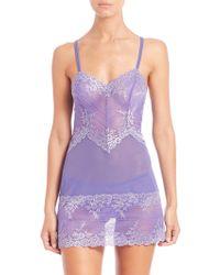 Wacoal Embrace Lace Chemise purple - Lyst