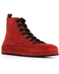 Ann Demeulemeester Blanche - Hi-top Lace-up Trainers - Lyst