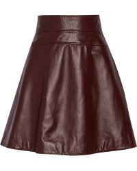 Temperley London Leather Skirt - Lyst