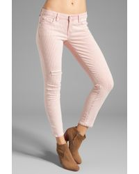 Textile Elizabeth and James - Destroyed Ozzy Skinny in Red Conductor Stripe - Lyst