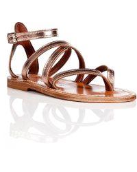 K. Jacques Metallic Leather Epicure Sandals - Lyst