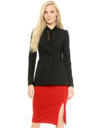 Alice + Olivia Fitted Slim Blazer  - Lyst