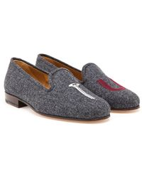 Stubbs & Wootton Wool Screw You Loafers - Lyst