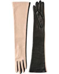 Maurizio Pecoraro Two Tone Nappa Leather Gloves - Lyst